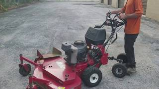 How to use a ExMark Metro lawn mower with a 48inch deck and a kawasaki motor like a pro