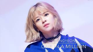 TWICE Jeongyeon One In A Million High Note Compilation (트와이스 정연) 4K