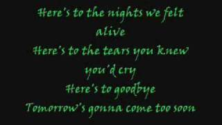 eve6:heres to the night with lyrics