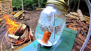 Off Grid Heating Prototype- Copper Coil Water Heater / Heat Exchanger / Radiant Heater