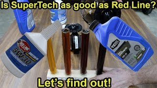 Is SuperTech Synthetic Oil as good as Red Line?  Let's find out!