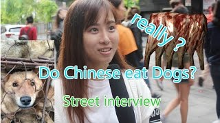 Do Chinese Really Eat Dogs?|Ask Chinese about Eating dogs|Street Interview|街访中國人吃狗肉嘛