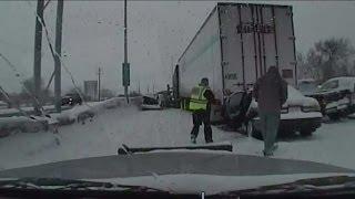 Video captures Highway 41/45 pileup as it happens