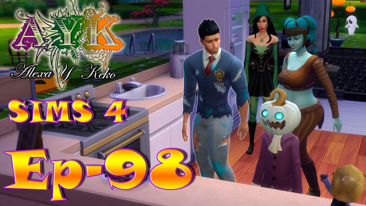 Ver Los Sims 4 – Ep 98 – Fiesta de Halloween!! en Español Online
