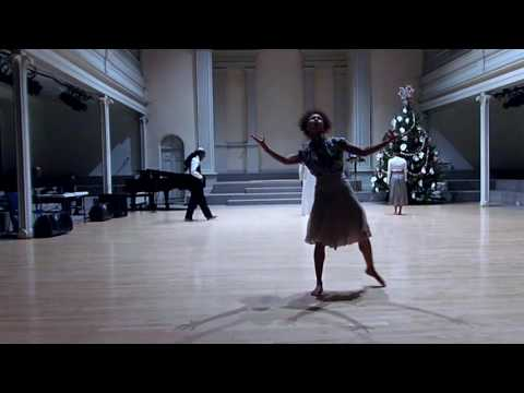 """Performance of """"Conversation With G"""". Choreography by Victorius Michel for Vissi Dance Theater in St. Mark's Church NYC, December 18th 2016."""