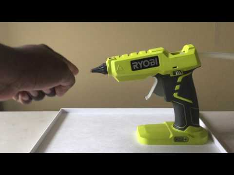 Real RYOBI P 305 Glue Gun Review and Operation