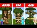 Minecraft NOOB vs PRO vs GOD Jungle Tre