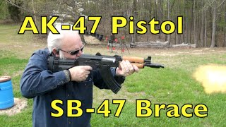 AK 47 Pistol with SB-47 Arm Brace