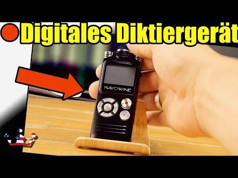Digitales Diktiergerät,KAYOWINE 16GB 1536Kbps mit deutsche Schnittstelle Diktiergerät Digitalrecor