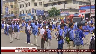7th day of student protests (Bangladesh) - BBC News - 4th August 2018