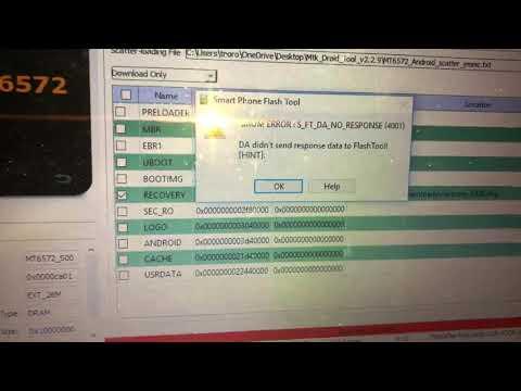 sp flash tool broom error solution । Error STATUS DA HASH MISMATCH