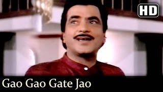 Gao Gao Gate Jao - Jeetendra - Moushumi - Udhar Ki Zindagi