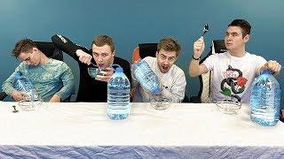 КТО ПЕРВЫЙ ВЫПЬЕТ 5 л. воды ЛОЖКОЙ ПОЛУЧИТ 1000$