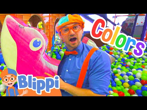 Learn Colors and Learn Shapes with Blippi   Educational Indoor Play Place