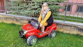Ayşeye DEV Oyuncak ARABA Aldık JEEP! Ayşe Şöförlük ÖĞRENİYOR, Learn with toy vehicle