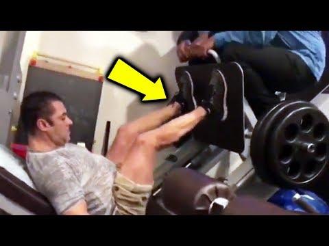 Salman Khan का खतरनाक Gym Video   BHARAT