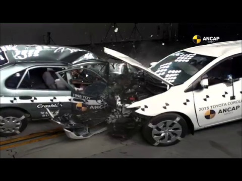 This Crash Between A 2015 And A 1998 Toyota Corolla Shows How Far Car Safety Has Come