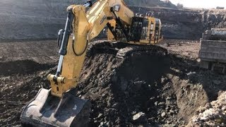New Cat 6015B Excavator Loading Trucks With Two Passes - Sotiriadis Brothers