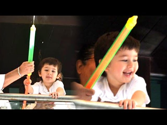Taimur Ali Khan Playing HOLI With A Pichkari Water Gun | Holi 2019