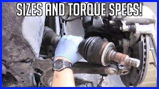 Replace CV Axle Chevrolet Volt