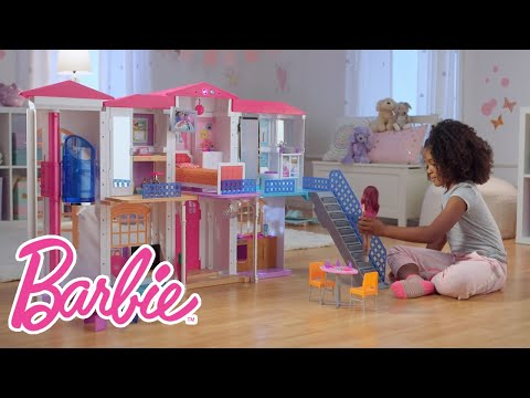 """The Interactive Barbie """"Hello Dreamhouse"""" at Play   Barbie"""