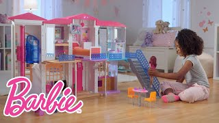 The Interactive Barbie Hello Dreamhouse At Play | Barbie