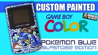 DIY Custom Painted Gameboy Color (Pokemon Blue Edition)