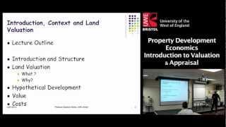 Property Development Economics: Introduction to Valuation & Appraisal