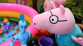 Видео для детей — Мультик Свинка Пеппа. Приключения на озере