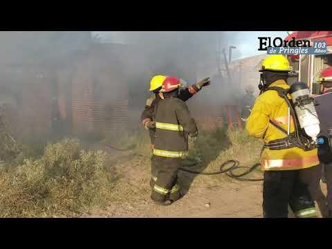 Pérdidas totales tras el incendio de una vivienda