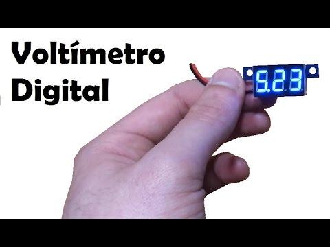 Mini voltímetro con displays led azules 3-30V