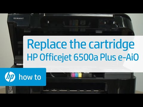 Replacing a Cartridge - HP Officejet 6500a Plus e-All-in-One Printer (E710n) | HP OfficeJet | HP