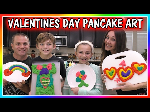 Pancake Art Challenge : flushTube - VALENTINE S DAY PANCAKE ART CHALLENGE We Are ...