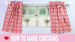 How To Make Curtains | SIMPLE Rod Pocket Style