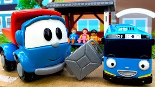 Видео про игрушки Грузовичок Лева: Автобус Тайо без бензина!