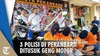3 Polisi di Pekanbaru Ditusuk Geng Motor, 4 Pelaku Tertangkap dan 2 Orang Buron