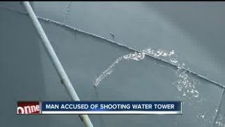 Dunedin man arrested after shooting hole in water tower next to golf course
