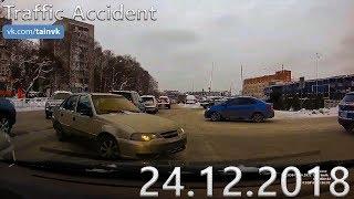 Подборка аварий и дорожных происшествий за 24.12.2018 (ДТП, Аварии, ЧП, Traffic Accident)
