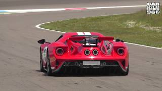 NEW FORD GT w/ TITANIUM AKRRAPOVIC EXHAUST GOING FLATOUT IN RACEMODE