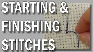 Blackwork Embroidery - Starting & Finishing Stitches | Blackwork Beginners Embroidery Video Tutorial