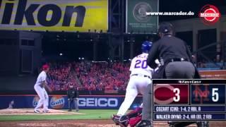 Marcador: Resumen en el dia de ayer en la MLB