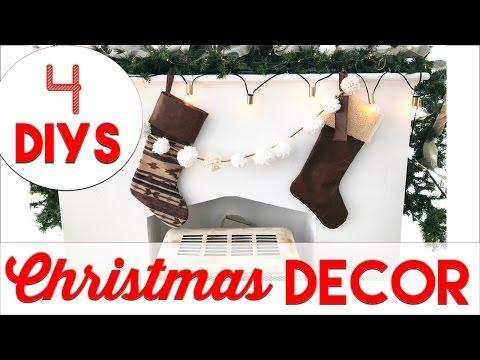 4 EASY Christmas Decor DIYs | Small Apartment Christmas Decorating 2016