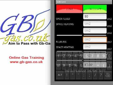 Video of GB Gas Ventilation Calculator