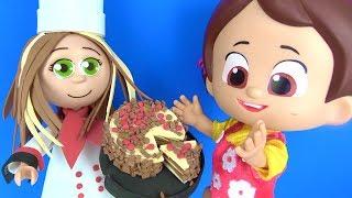 Niloya ve Pastacı Bebek Fofuchas Sandra yapıyoruz Niloya Mete Tospik Heidi ve Peter pasta yiyor