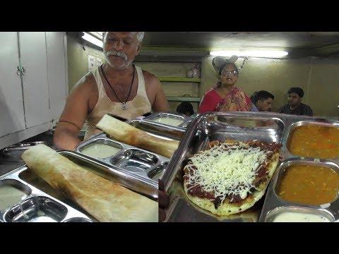 Masala Dosa & Onion uttapam   Indian Street Food   Baro Bazar Kolkata   Best Breakfast for You