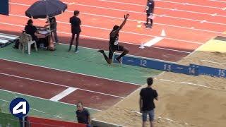 Bondoufle 2018 : Finale Triple saut Juniors M (Jonathan Seremes avec 16,02 m)