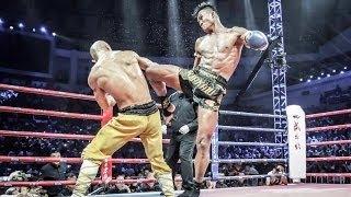 Monje Shaolin brutal KO gana VS taekwondo, Muay Thai, karate. shaolin monk