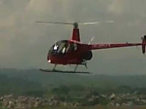 Aterrizaje Aeropuerto Matecaña Pereira Helicóptero R22 Escuela de Aviación del Pacífico Ltda