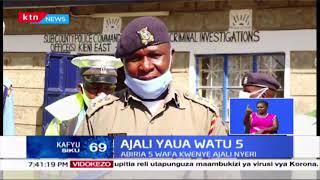 Abiria 5 wafa kwenye ajali Nyeri baada ya gari kugongana na Lori Narumoru