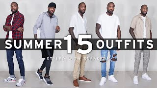 15 Summer Outfits W/ Sneakers To Wear This Summer | Mens Fashion Inspiration | I AM RIO P.